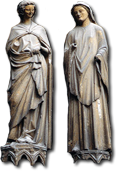 2 figures from Reims Cathedral